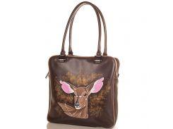 Женская дизайнерская кожаная сумка с ручной росписью GALA GURIANOFF (ГАЛА ГУРЬЯНОВ) GG1257