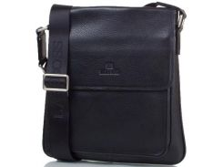 Мужская кожаная сумка-почтальонка LARE BOSS (ЛАРЕ БОСС) TU146-2-black