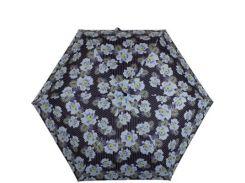 Зонт женский компактный облегченный супертонкий автомат FULTON (ФУЛТОН) FULL553-Pinstripe-Flower