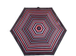 Зонт женский компактный облегченный супертонкий автомат FULTON (ФУЛТОН) FULL553-Neon-Stripe