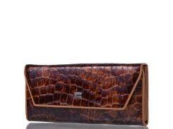 Женский кожаный кошелек WANLIMA (ВАНЛИМА) W81042670166-light-coffee