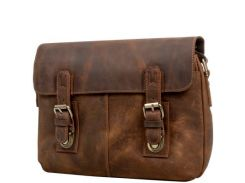 Кожаная мужская сумка-почтальонка ETERNO (ЭТЭРНО)