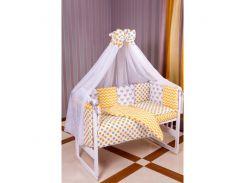 Детская постель Babyroom Bortiki lux-08 fox оранжевый - серый