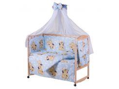 Детская постель Qvatro Gold RG-08 рисунок голубая (мишки спят)