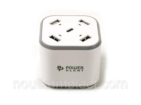 Зарядное устройство PowerPlant 4xUSB + Type-C 5V 8.4A Киев