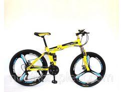 """Велосипед Land Rover Горный складной 17"""" 26"""" Yellow (LRA-17-26-Y)"""