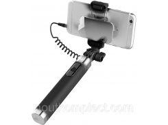 Монопод Rock Selfie stick with wire control & mirror II Black (ROT0769)