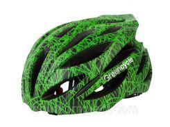 Шолом Green Cycle Alleycat 54-58 см Чорно/Зелений