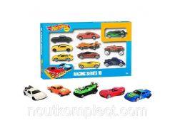 Машинки Hot Wheels Гоночная серия 10 шт. в наборе