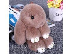 Брелок кролик из натурального меха Rex Fendi 18 см