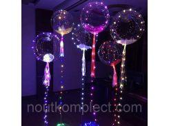 Воздушные шарики с Led подсветкой ручка в комплекте