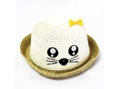 Детская летняя шляпа с ушками