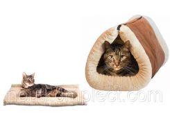 Коврик туннель для кошек 2 In 1 Kitty Shock Tunnel Bed Mat