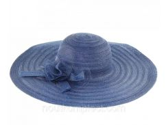Пляжная женская шляпа прозрачная с бантом