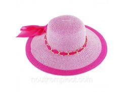 Пляжная женская шляпа с цепочкой