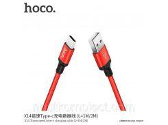 Кабель Micro Hoco X14 Times speed micro (L=2M) красный&черный