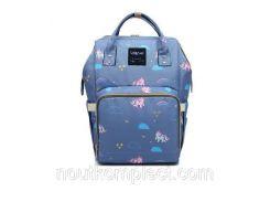Рюкзак-сумка органайзер Baby-mo для мам пони на голубом (35144848)