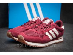 Кроссовки мужские Adidas, бордовые (11484),  [  44 45  ]