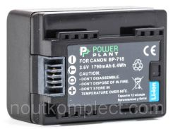 Аккумулятор PowerPlant Canon BP-718 Chip 1790mAh