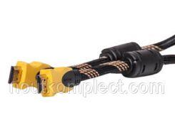 Видео кабель PowerPlant HDMI - HDMI, 3м, позолоченные коннекторы, 1.3V, Nylon, Double ferrites