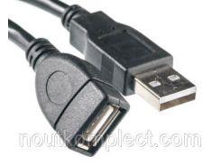 Кабель PowerPlant USB 2.0 AF – AM, 5м, One ferrite