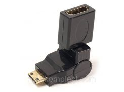 Переходник PowerPlant HDMI AF - mini HDMI AM, 360 градусов