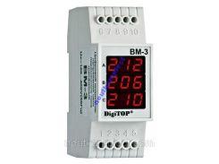 Вольтметр цифровой ВМ-3 DIN три фазы