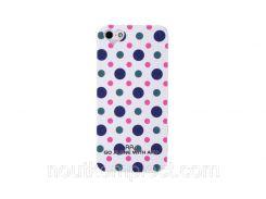 Чехол ARU для iPhone 5/5S/5SE Cutie Dots White