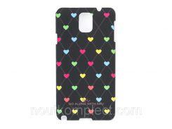 Чехол ARU для Samsung Galaxy Note 3 Hearts Dark Brown
