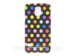 Чехол ARU для Samsung Galaxy S5 Cutie Dots Black Rainbow