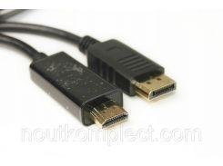Видео кабель PowerPlant HDMI - DisplayPort, 1.8м, позолоченные коннекторы, 1.4V