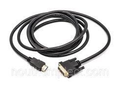 Видео кабель PowerPlant HDMI - DVI, 3м