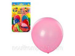 Шарики надувные MK0014, 12 дюймов, яркий, микс цветов, 50шт в кульке, 18,5-28-1см