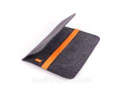 Чехол для ноутбука Digital Wool Case 13 с оранжевой резинкой (DW-13-06)