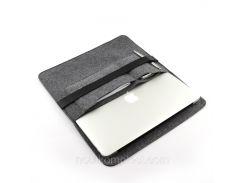Чехол для ноутбука Digital Wool Case 13 Premium с кожаным ремешком (DW-13-08)