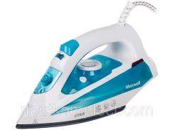 Утюг MAXWELL MW-3055 Бело-голубой (MW-3055)