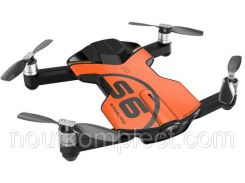 Квадрокоптер Wingsland S6 GPS 4K Pocket Drone-2 Batteries Pack Orange (6381695)