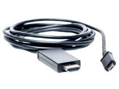 Видео кабель PowerPlant HDMI - micro USB, 1.8м, (MHL), Blister