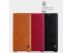 Кожаный чехол (книжка) Nillkin Qin Series для Sony Xperia XZ3