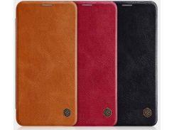 Кожаный чехол (книжка) Nillkin Qin Series для OnePlus 6T