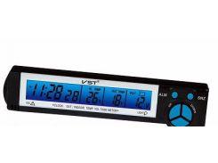 Автомобильные часы с термометром и вольтметром vst-7043V