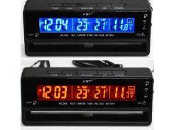 Автомобильные часы с термометром и вольтметром VST 7010V