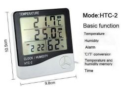 Часы Термометр Гигрометр с выносным датчиком HTC-2