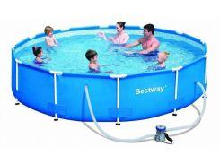 Каркасный бассейн Bestway 56416, 366х76 см,+ насос 6473 л
