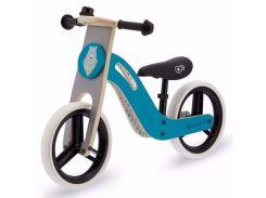 Велобег деревянный Kinderkraft Uniq голубой