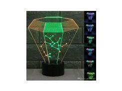 3D светильник Алмаз