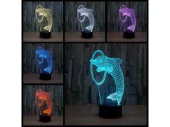 3D светильник Дельфин