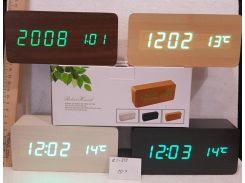 Электронные настольные часы ZJ-010 Коричневый