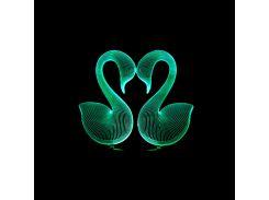 3D светильник Два лебедя