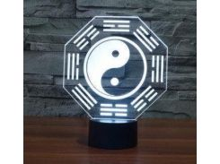 3D светильник  Инь-Янь
